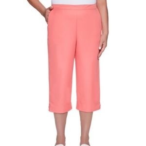 🍃🖤 NWT Plus Alfred Dunner Pink Cropped Capris